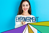 Empowerment text with young woman