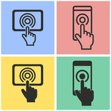 Digital interaction icon set.