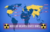 Map of nuclear-weapon states.