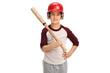 Little boy with a baseball bat