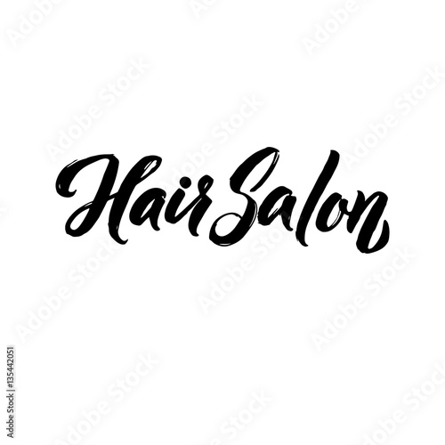 Hair Salon Typography Square Poster Poster