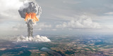 Nuclear explosion from height of bird's flight. - 135457666
