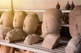 head of buddha broken statue
