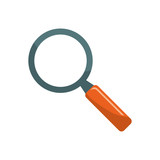 Magnifying glass lupe icon vector illustration graphic design