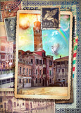 Vintage postcards of Venezia-Italy