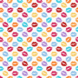 Pattern with colorful lips.Seamless vector valentines print.Textile texture for valentine's day