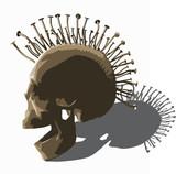 punk skull - vector on white. - 135502450