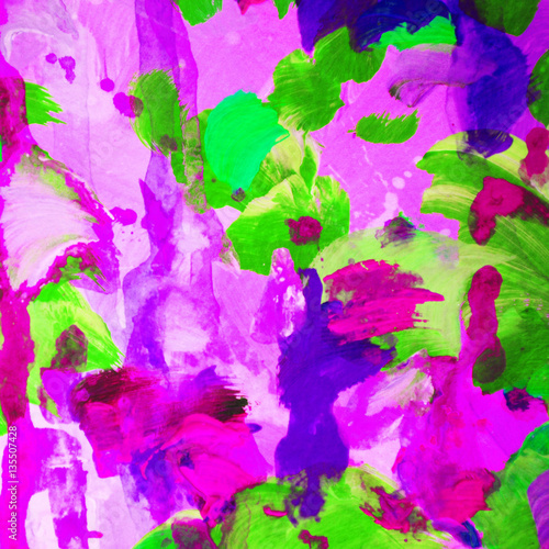 Obraz modern abstract composition, water-colour, illustration