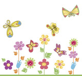 utterflies with flowers 2