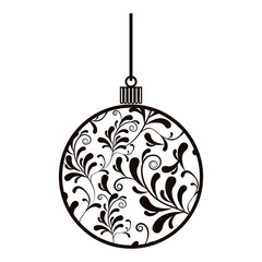 Decorative christmas ball icon vector illustration graphic design