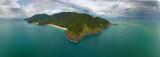 Aerial panorama view of Ko Lanta island