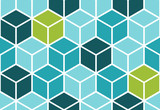 Abstract seamless cube pattern. Geometric vector background. Optical illusion.