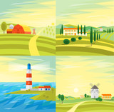 Landscape Set. Vector