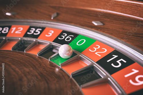 Roulette wheel closeup - 3D Rendering