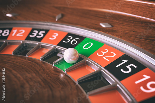 Poster Roulette wheel closeup - 3D Rendering