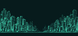 Night city background. Hand drawn vector - 135547228