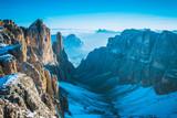 Alps mountains view Sella Ronda, Dolomites, Italy