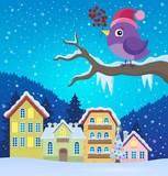 Stylized winter bird theme image 3