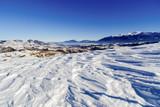 beautiful winter landscape with Bucegi