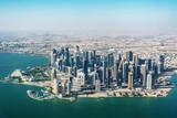 Aerial view of Doha in Qatar - 135570674