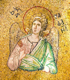 Byzantine mosaic of the archangel Raphael