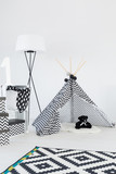 Bright interior with teepee