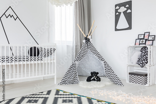 Black and white child room © Photographee.eu