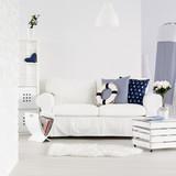 Modern interior in marine style - 135581463