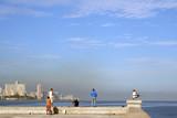 Skyline at Malecon boulevard in Havana