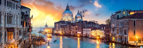 Foto op Canvas Venetie Venedig Panorama bei Sonnenuntergang