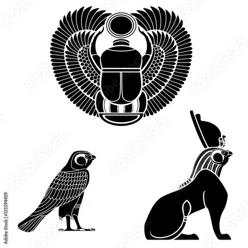 Set Of Egyptian Ancient Symbol Buy Photos Ap Images Detailview