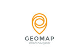 Geo Map Point Location Logo Pin City locator Gps navigation icon - 135598674