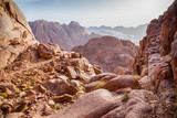 beautiful views of the Sinai mountains in Egypt