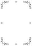 Ornate frame. Template for card, certificate, diploma. A4 page proportions. - 135606484