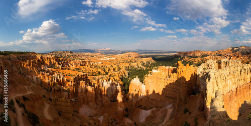Foto op Canvas Natuur Panoramic top view on Bryce Canyon National Park