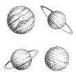 Collection of planets solar system - 135612642