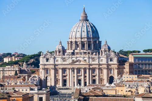 Poster Papal Basilica of St Peter and square in Vatican