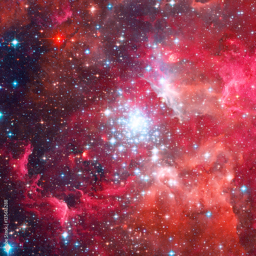 Magnificent nebula in outer space.