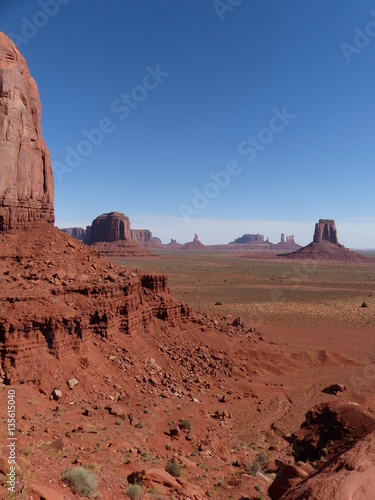 Poster Monument Valley vue depuis Cly Butte