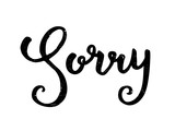SORRY Grunge Card