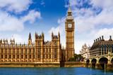 Big Ben London Clock tower in UK Thames - 135616473