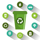 eco green environmental poster vector illustration design