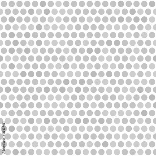 Polka dot background. Vector seamless pattern - 135637031