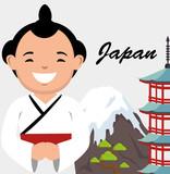 Sumo wrestler japanese icon vector illustration design