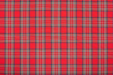Red tartan, scottish fabric texture background