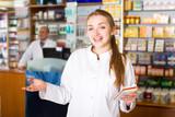 Portrait of female pharmacist