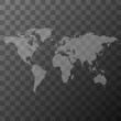 Transparent World Map Illustration