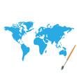 World Map Paint Illustration