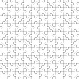 Jigsaw Puzzle Template. 10 x 10 puzzle. Seamless pattern. Vector illustration.