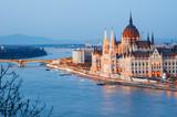 Budapest Parliament At Dusk